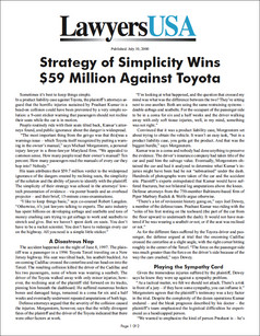 Strategy of Simplicity Wins $59 Million Against Toyota
