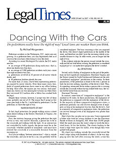 Dancing with the Cars - Do pedestrians really have the right of way? Local laws are weaker than you think