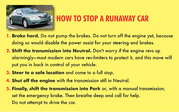 How To Stop a Runaway Car